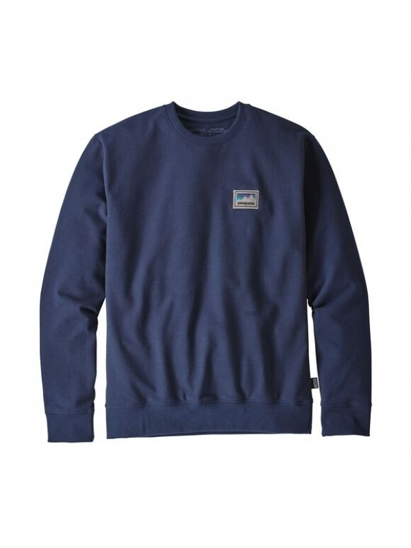 Patagonia Men's Shop Sticker Patch Uprisal Crew Sweatshirt : Classic Navy