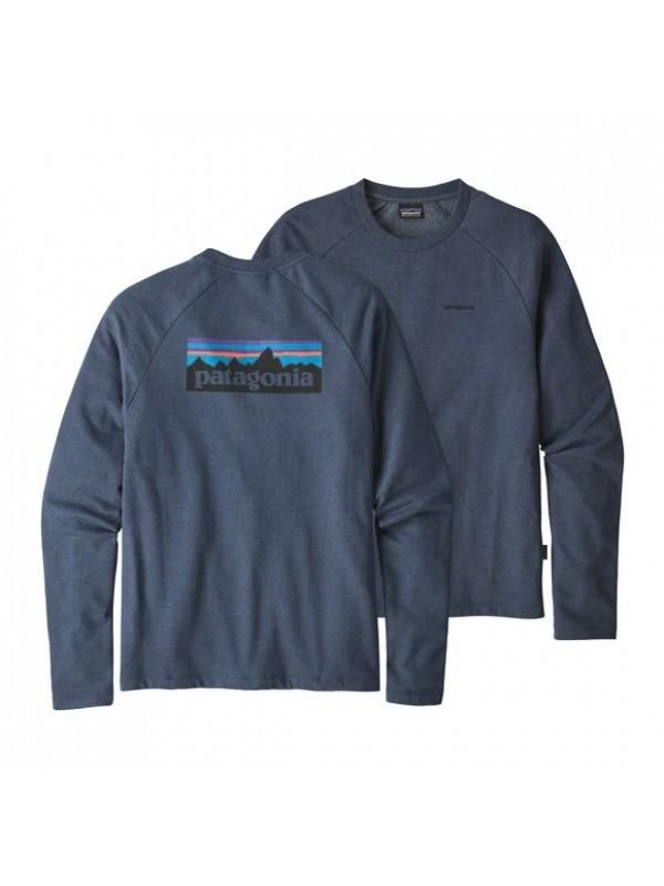 Patagonia Dolomite Blue P-6 Logo Lightweight Crew Sweatshirt