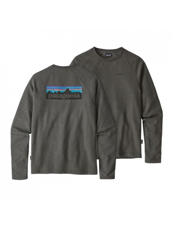 Patagonia P-6 Logo Lightweight Crew Sweatshirt : Forge Grey