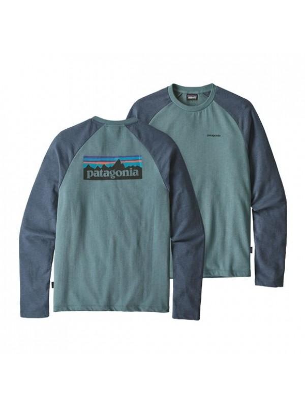 Patagonia Shadow Blue P-6 Logo Lightweight Crew Sweatshirt