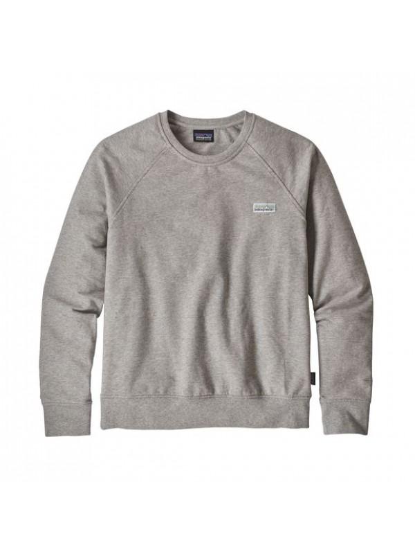 Patagonia Women's Pastel P-6 Label Ahnya Crew Sweatshirt : Drifter Grey
