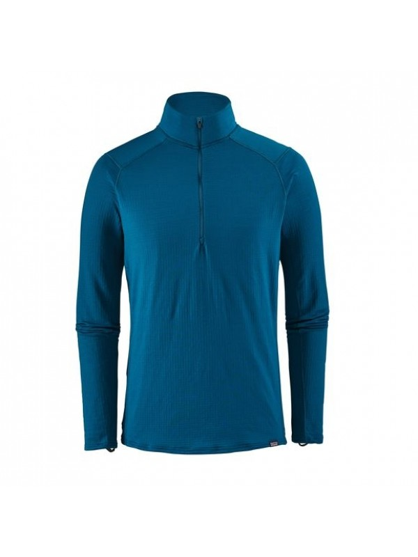 Patagonia Big Sur Blue Capilene Thermal Weight Zip-Neck