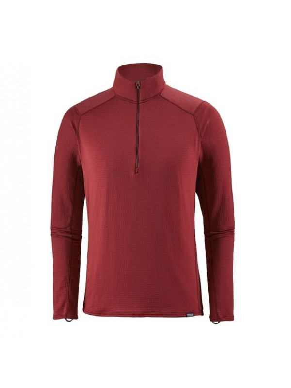 Patagonia Oxide Red Capilene Thermal Weight Zip-Neck