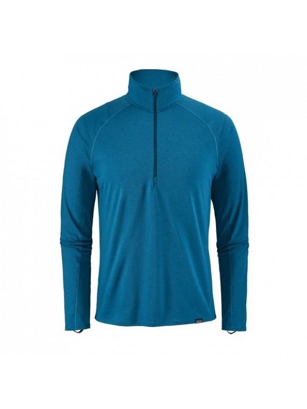 Patagonia Mens Balkan Blue Capilene Midweight Zip-Neck
