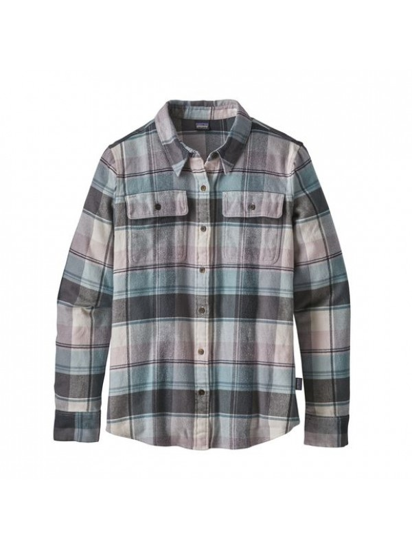 Patagonia Women's Long-Sleeved Fjord Flannel Shirt: Spectra: Cadet Blue