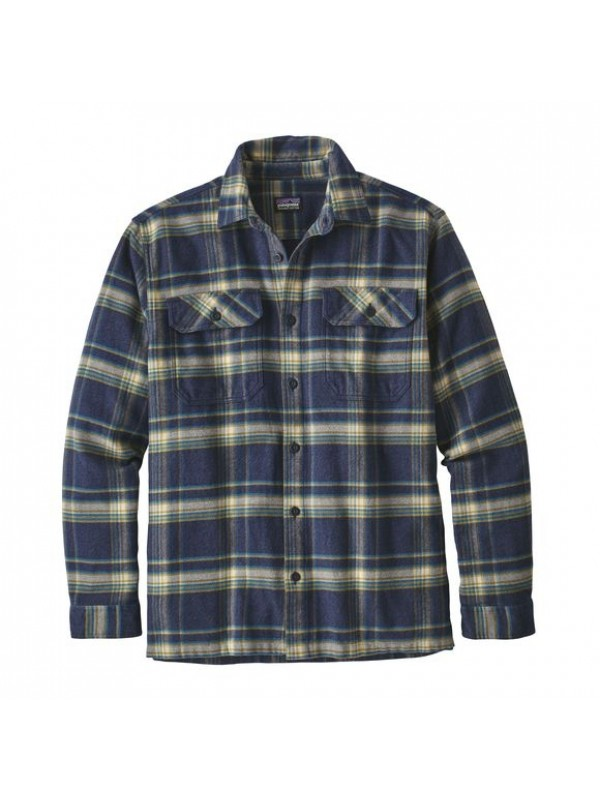 Patagonia Activist: Navy Blue Fjord Flannel Shirt