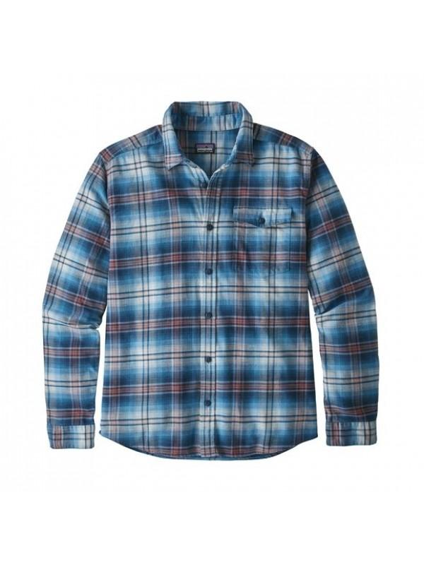 Patagonia Mens Lumi Blue  L/W Fjord Flannel Shirt