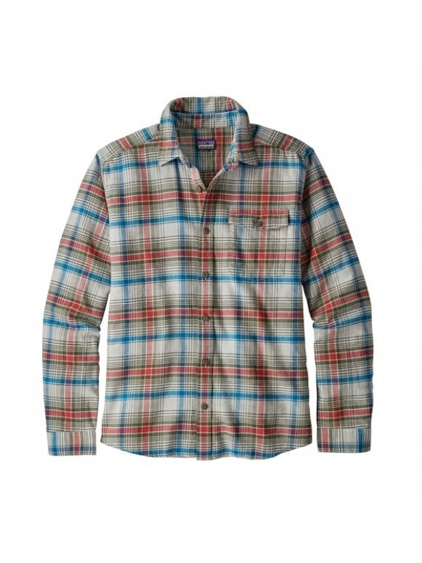 Patagonia Mens Tailored Grey  L/W Fjord Flannel Shirt