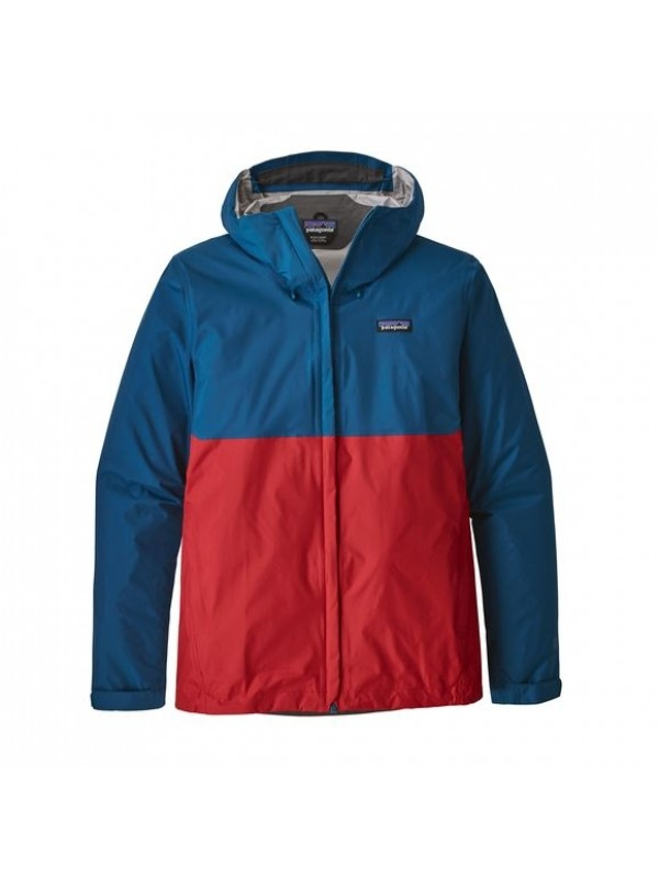 Patagonia Mens Torrentshell Jacket : Big Sur Blue w Fire