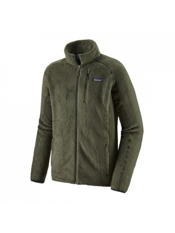 Patagonia Men's R2 Fleece Jacket : Industrial Green w/Forge Grey