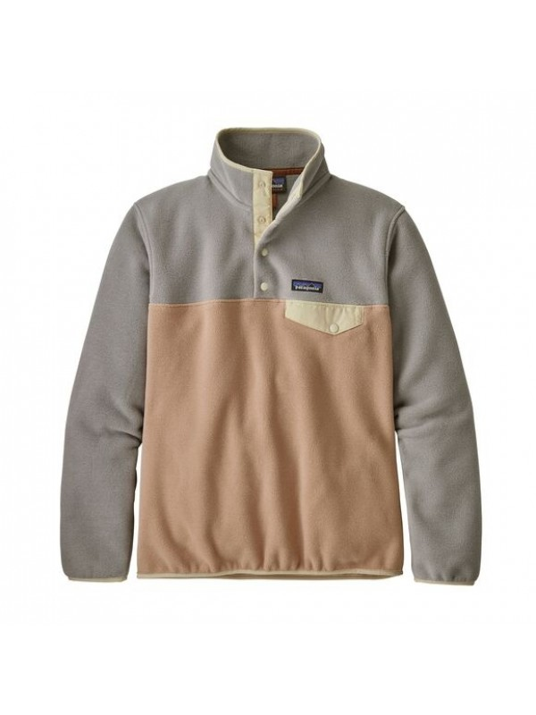 Patagonia Women's Lightweight Synchilla Snap-T Fleece Pullover: Rosewater