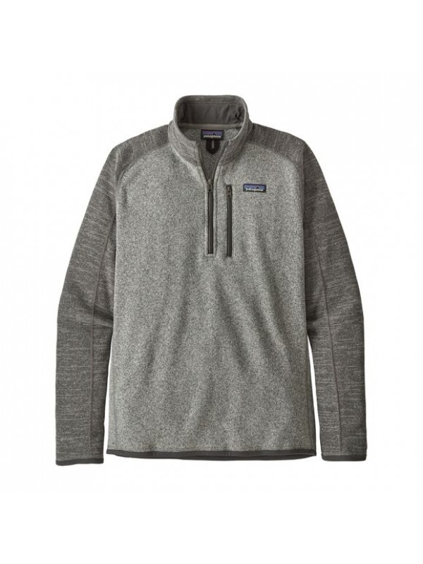 Patagonia Men's Better Sweater™ 1/4-Zip Fleece : Nickel w Forge Grey