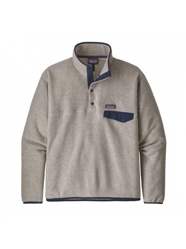 Patagonia European Fit Lightweight Synchilla® Snap-T Fleece Pullover : Oatmeal Heather
