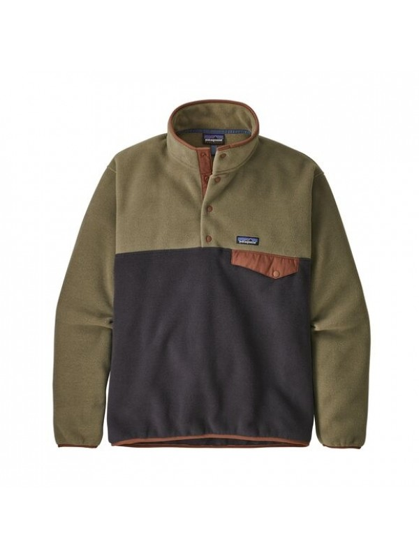 Patagonia European Fit Lightweight Synchilla® Snap-T Fleece Pullover : Sage Khaki