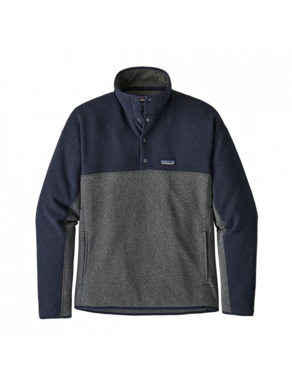 Patagonia Men's  Better Sweater™ Marsupial Fleece Pullover : Forge Grey w/Navy Blue