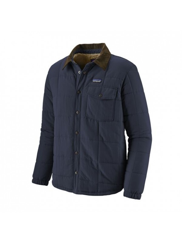 Patagonia Men's Isthmus Quilted Shirt Jacket : New Navy