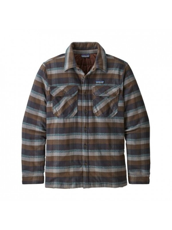 Patagonia Insulated Fjord Flannel Shirt Jacket : Observer: Ink Black