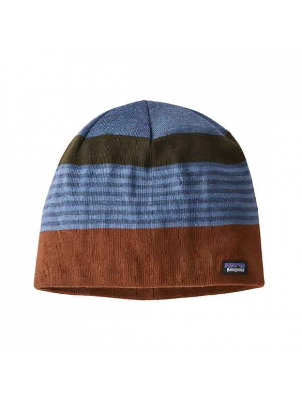 Patagonia Beanie Hat : Fitz Roy Stripe: Sisu Brown