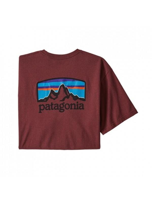 Patagonia Men's Fitz Roy Horizons Responsibili-Tee : Oxide Red