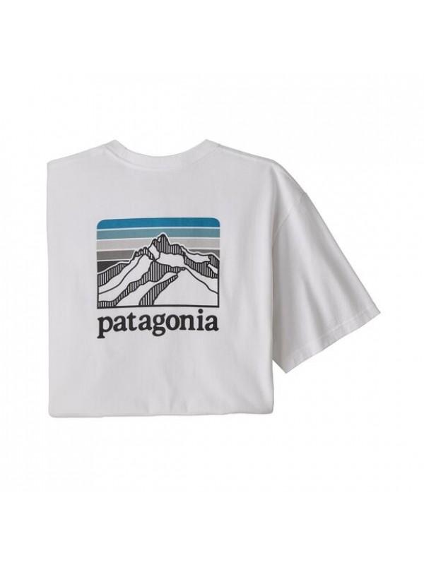 Patagonia Men's Line Logo Ridge Pocket Responsibili-Tee : White