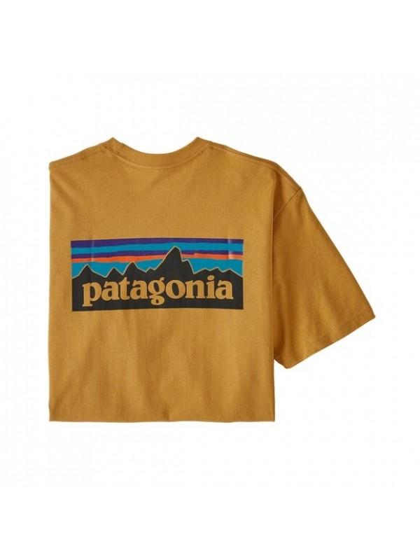 Patagonia Mens Classic  P-6 Logo Responsibili-Tee : Glyph Gold