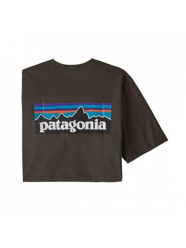 Patagonia Mens Classic  P-6 Logo Responsibili-Tee : Logwood Brown