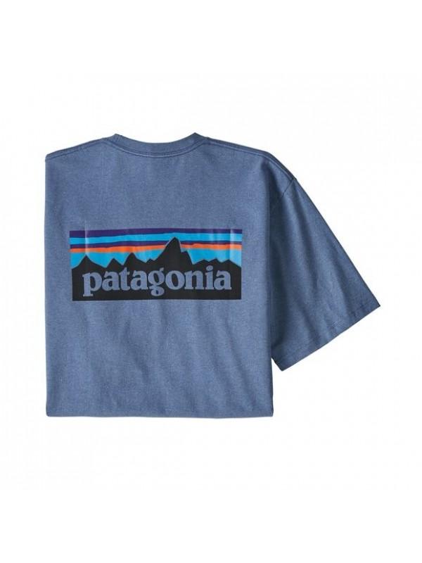 Patagonia Mens Classic  P-6 Logo Responsibili-Tee : Woolly Blue