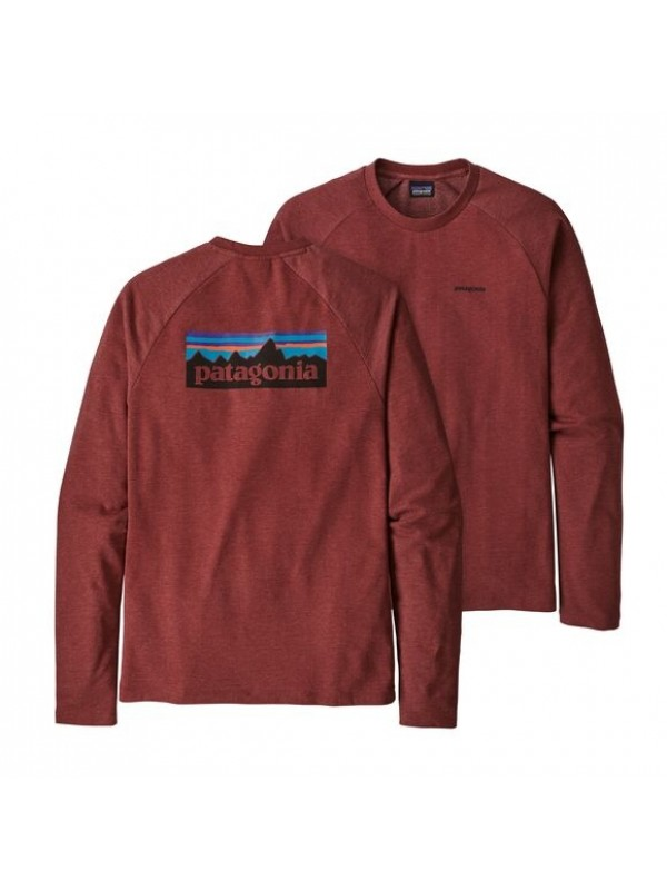 Patagonia P-6 Logo Lightweight Crew Sweatshirt : Oxide Red
