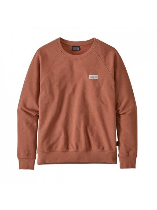 Patagonia Women's Pastel P-6 Label Ahnya Crew Sweatshirt : Barro Brown