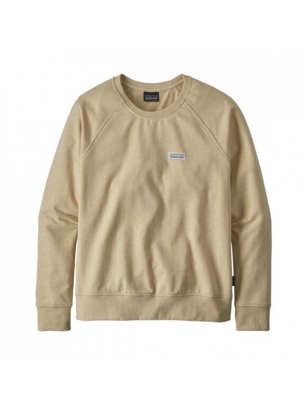 Patagonia Women's Pastel P-6 Label Ahnya Crew Sweatshirt : Oyster White