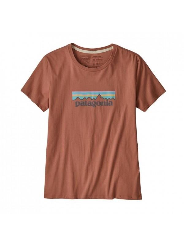 Patagonia Women's Pastel P-6 Logo Organic Cotton Crew T-Shirt : Century Pink