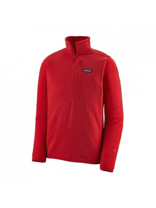 Patagonia Men's R1® Fleece Pullover : Fire