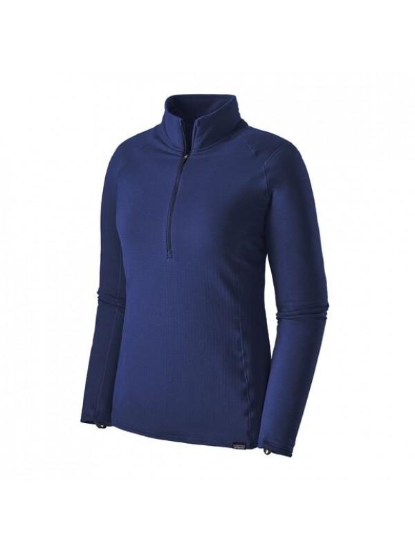 Patagonia Women's Capilene Thermal Weight Zip-Neck: Cobalt Blue w Classic Navy X-Dye