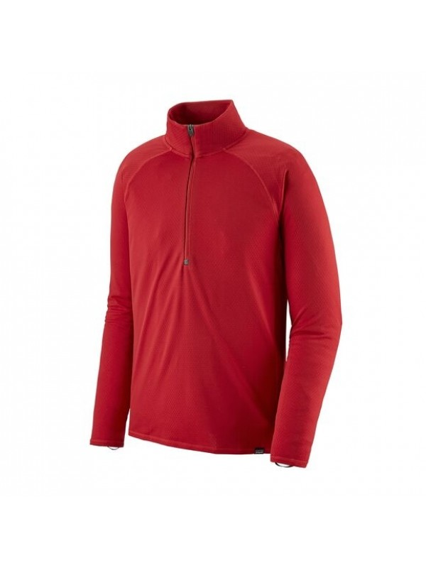 Patagonia Men's Capilene Midweight Zip-Neck : Fire