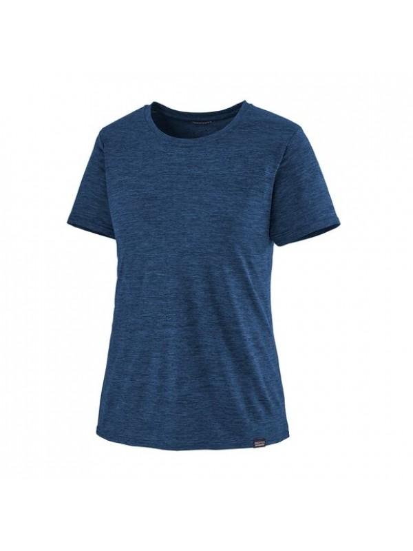 Patagonia Women's Capilene® Cool Daily Shirt : Viking Blue w Navy Blue X- Dye