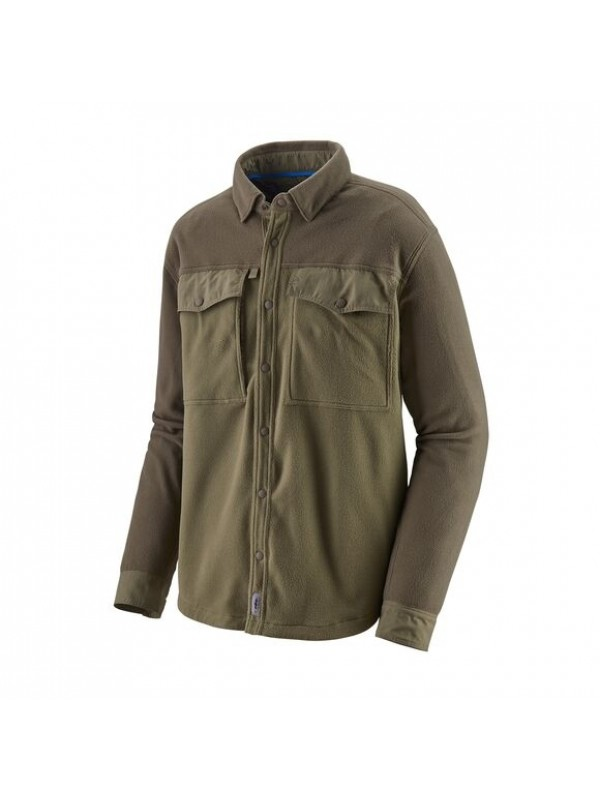 Patagonia Men's Long-Sleeved Early Rise Snap Shirt : Sage Khaki