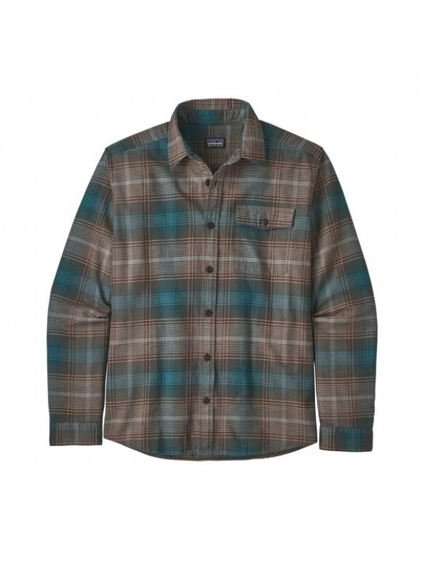 Patagonia Mens  L/W Fjord Flannel Shirt : Canopy: Bristle Brown
