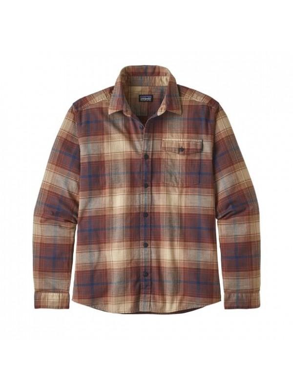 Patagonia Mens  L/W Fjord Flannel Shirt : Canopy: Sisu Brown