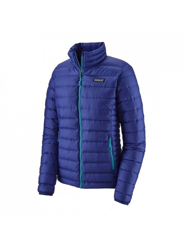 Patagonia Women's Down Sweater : Cobalt Blue w/Curacao Blue