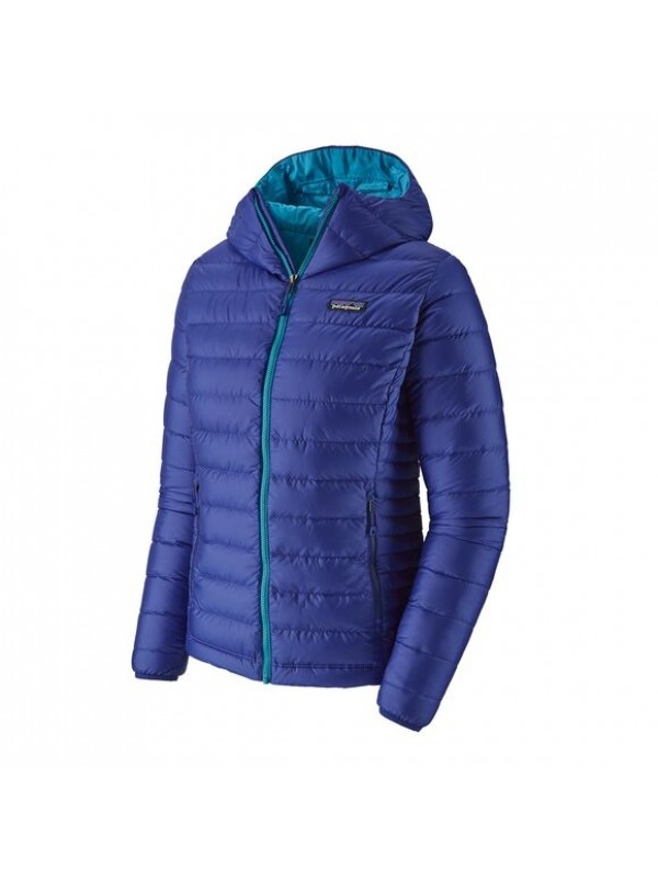 Patagonia Women's Down Sweater Hoody: Cobalt Blue