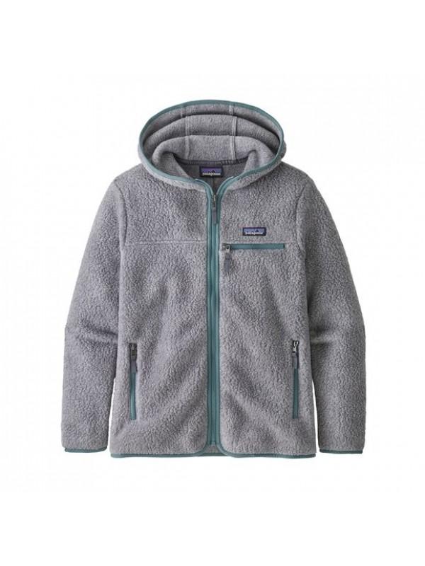 Patagonia Women's Retro Pile Fleece Hoody : Salt Grey