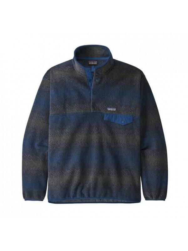 Patagonia Synchilla® Snap-T Fleece Pullover : Gem Stripe: New Navy
