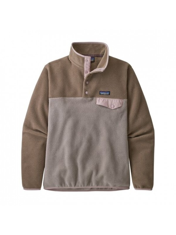 Patagonia Women's Lightweight Synchilla Snap-T Fleece Pullover: Furry Taupe