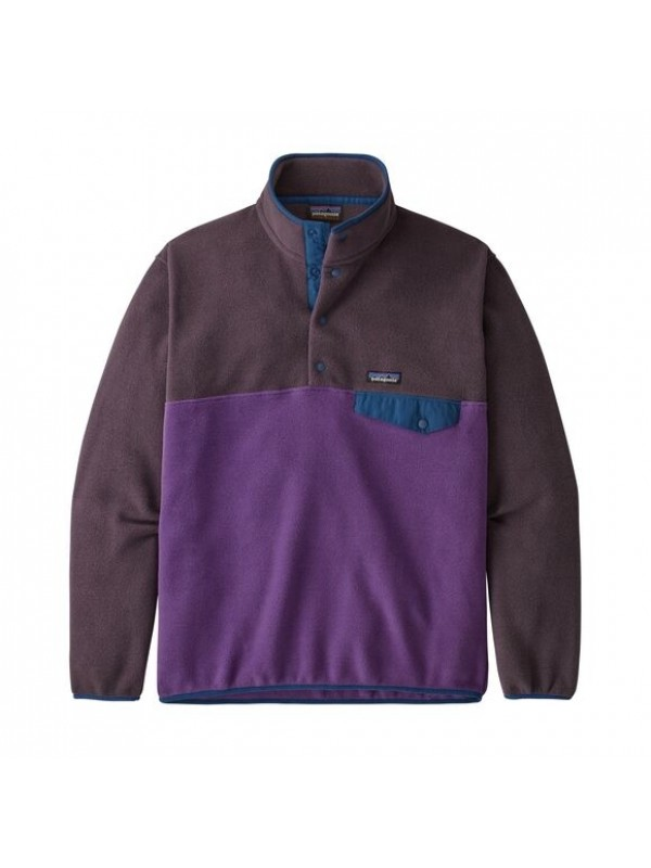 Patagonia European Fit Lightweight Synchilla® Snap-T Fleece Pullover : Purple