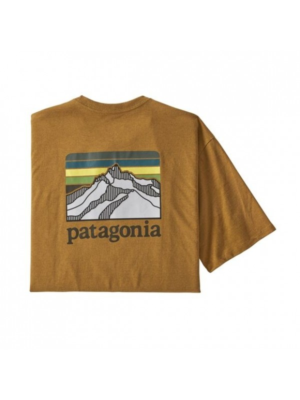 Patagonia Men's Line Logo Ridge Pocket Responsibili-Tee : Buckwheat Gold