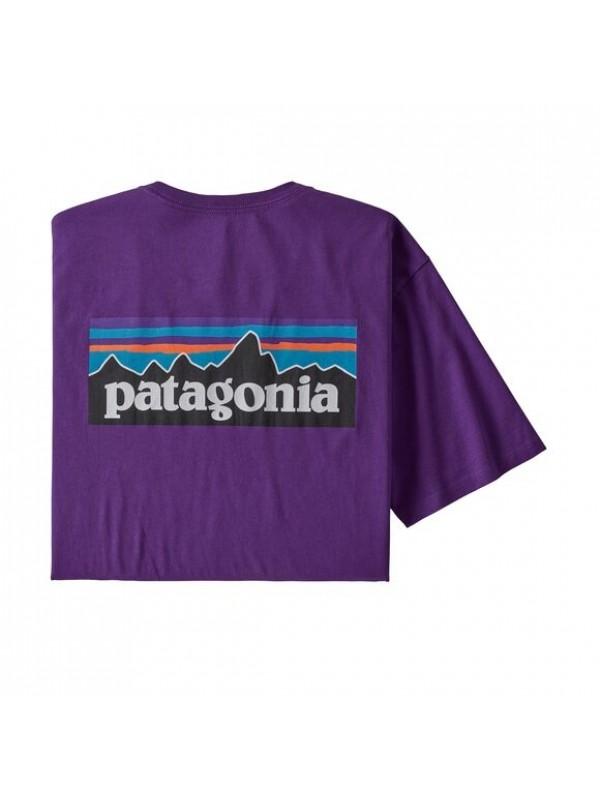 Patagonia Men's P-6 Logo Organic Cotton T-Shirt : Purple