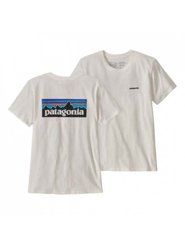 Patagonia Women's P-6 Logo Organic Crew T-Shirt : White