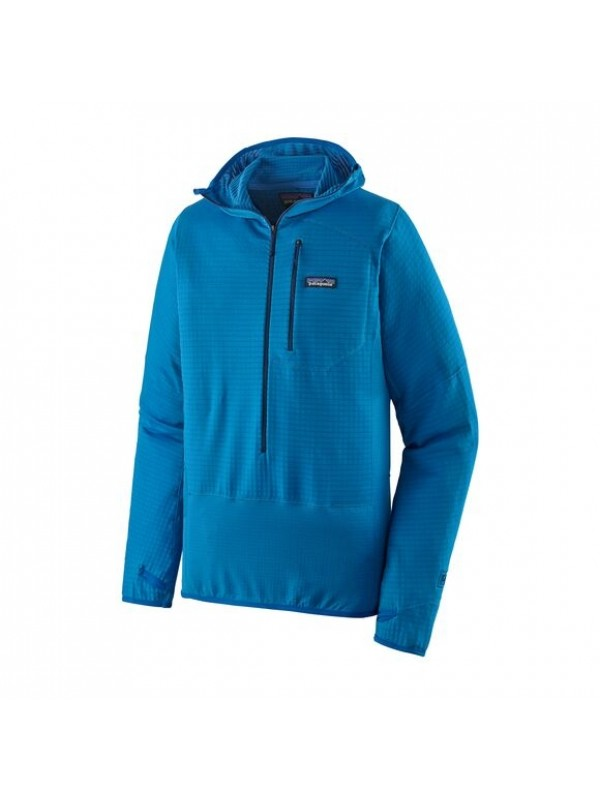 Patagonia Men's R1 Fleece Pullover Hoody : Andes Blue