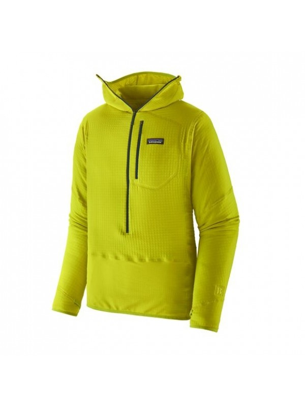 Patagonia Men's R1 Fleece Pullover Hoody : Chartreuse