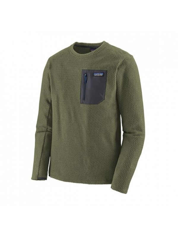 Patagonia Men's R1 Air Crew : Industrial Green